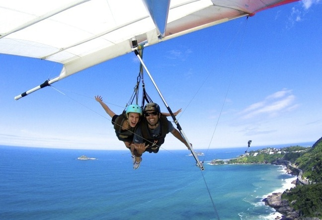 Hang Gliding in Rio de Janeiro. Best hanggliding pilots, see reviews and photos. Click Here!