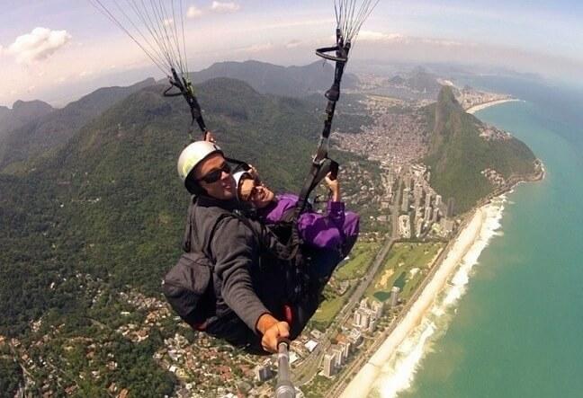 Venha fazer seu voo duplo de instrução, parapente ou asa delta. Pedra Bonita - Rio de Janeiro.
