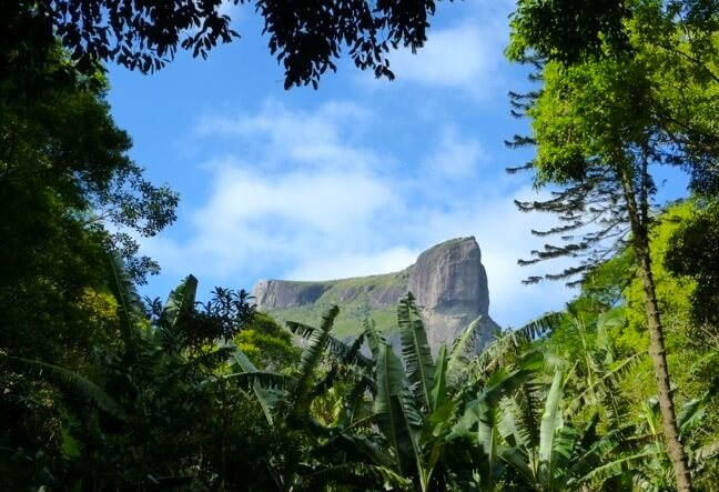 Pedra Bonita in english Beautiful Rock · Is a mountain with an altitude of 696 meters located in the heart of Tijuca Forest National Park · Click here!