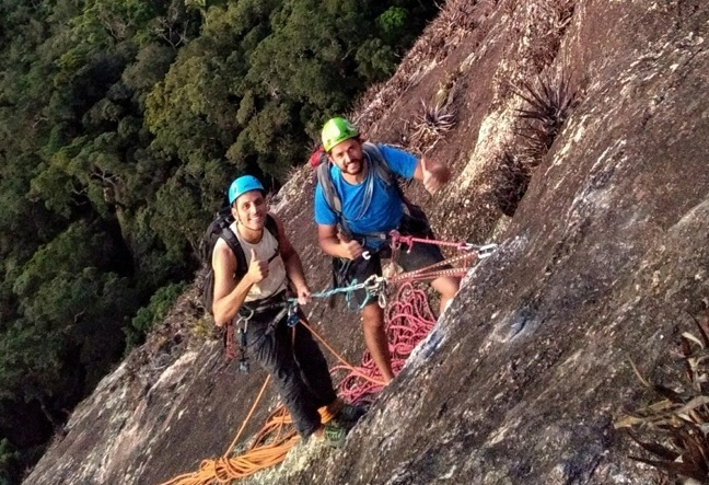 Agulinha da Gávea is hidden in the middle of the Tijuca Forest. Climbing here is like climbing in the middle of nowhere. Great short routes for beginners and a secret crag for sport climbers - rock climbing