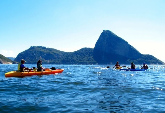 Rio de Janeiro Guided sea cave kayak trips are designed to be low rigor but high adventure