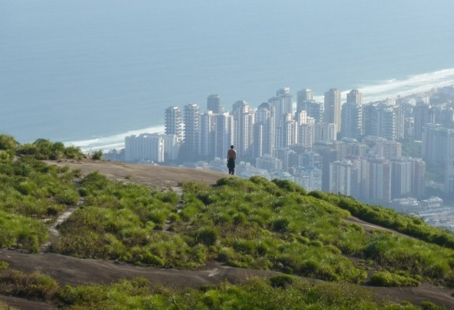 Pedra Bonita Hiking Tour. Pedra Bonita is a lookout above the of Tijuca forest National Park.